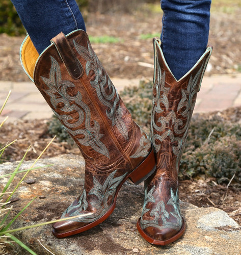 Old Gringo Diego Rust & Turquoise Boots L113-13
