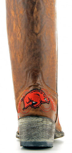 Gameday Arkansas Boots Heel