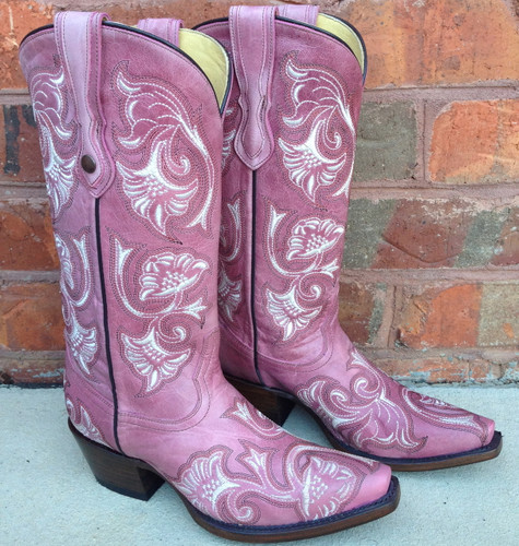 Corral Pink Floral Full Stitch