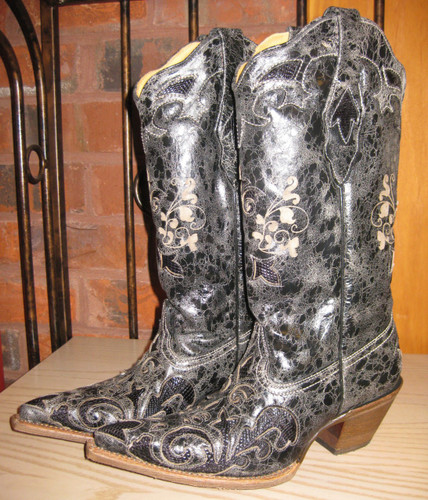 Corral Black Lizard Inlay C2108 Left Picture