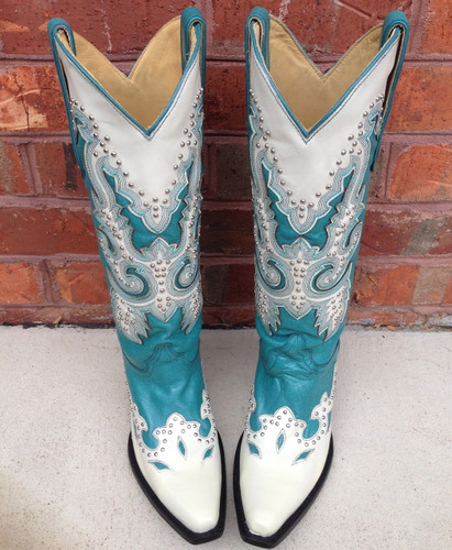 Corral Turquoise Stud Boot A1188