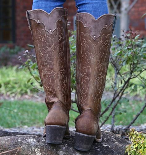 Corral Kats Natural Westport Boots C1971 Heel