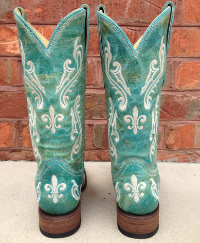 Corral Turquoise Blue Cortez Cowgirl Boots R1203