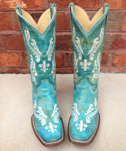 Corral Turquoise Blue Cortez Boots