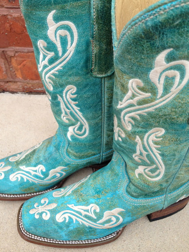 Corral Turquoise Blue Cortez Boots R1203