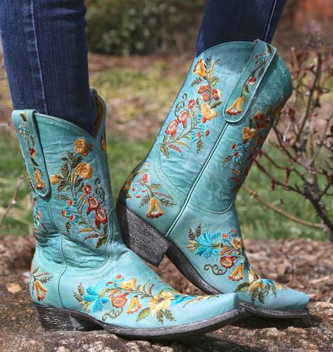 Old Gringo Jasmine Aqua Boots L1286-10 Image