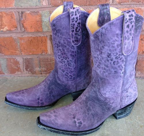 """Old Gringo Leopardito Purple 10"""" Boot L168-13"""