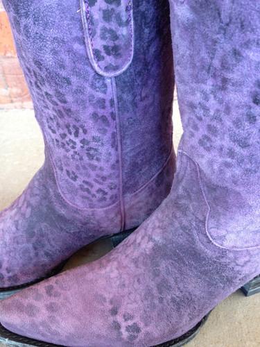 "Old Gringo Leopardito Purple 10"" Boot"