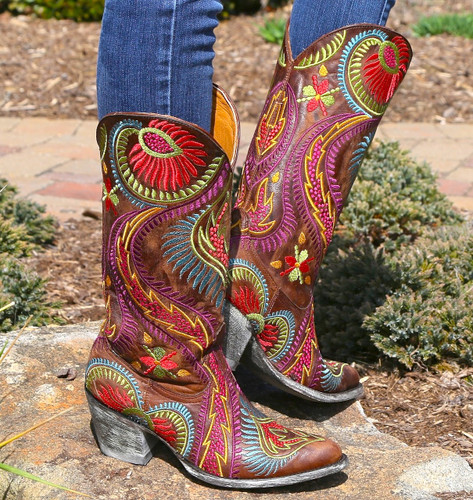 Old Gringo Tiegan Boots L1371-6 Embroidery