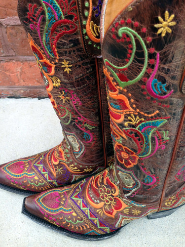 Old Gringo Olivia Brass Boots L1629-3