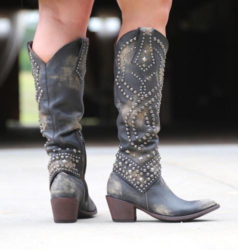 Old Gringo Belinda Beige Boots L903-17 Heel
