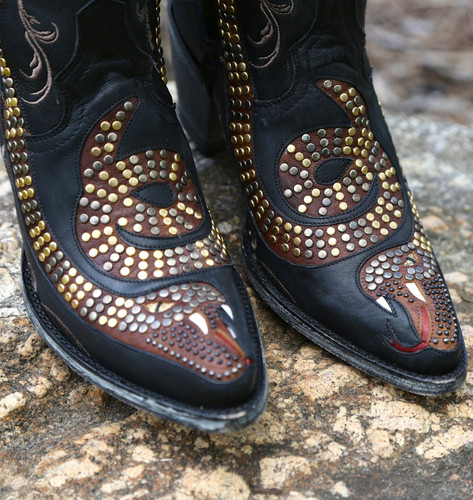 Old Gringo Snake Zipper Boots L1177-1 Toe