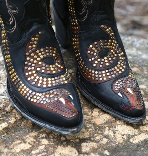 Old Gringo Snake Zipper Boots L1177-1 Toe