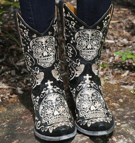 Old Gringo Klak Black Boots L1300-4 Skulls