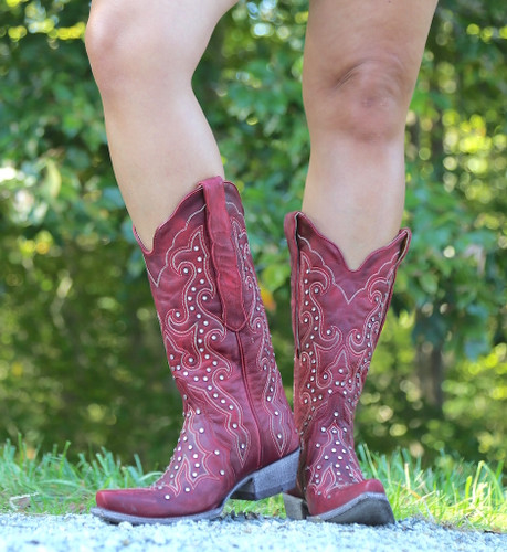 Old Gringo Celeste Crystal Red Boots L888-11 Toe