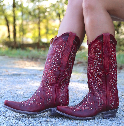 Old Gringo Celeste Crystal Red Boots L888-11 Picture