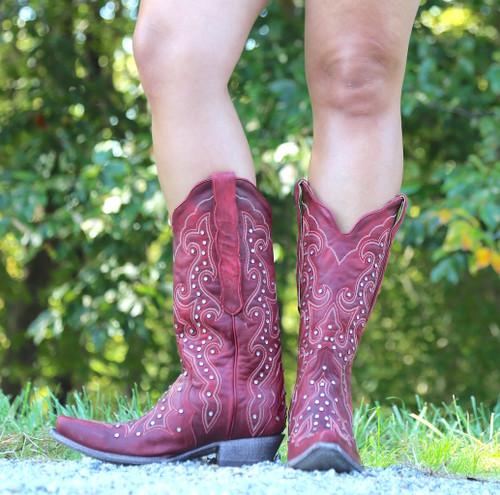 Old Gringo Celeste Crystal Red Boots L888-11 Front