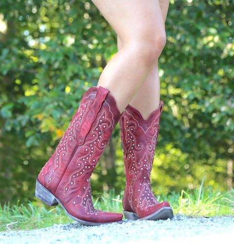 Old Gringo Celeste Crystal Red Boots L888-11 Image