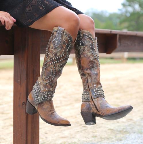Old Gringo Belinda Tan Boots L903-16 Toe