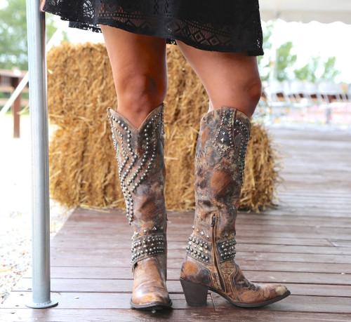 Old Gringo Belinda Tan Boots L903-16 Front