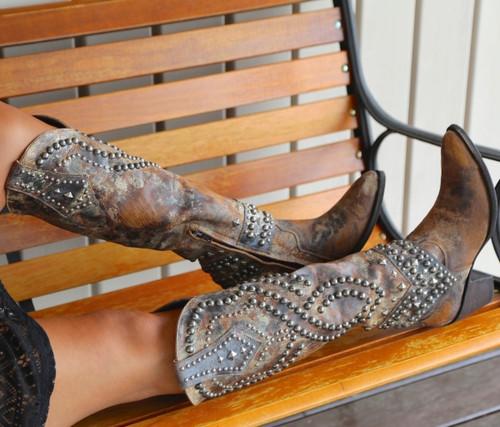 Old Gringo Belinda Tan Boots L903-16 Studs