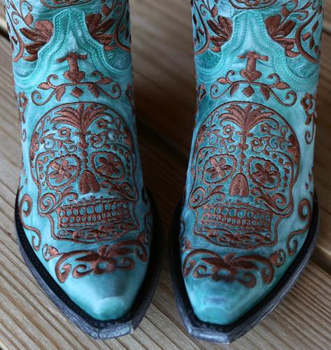 Old Gringo Klak Turquoise/Brown Boots L1300-8 Skull