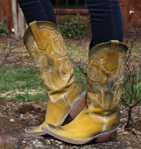 Liberty Black Vegas Soley Acabado Tambor Boots LB711512 Picture