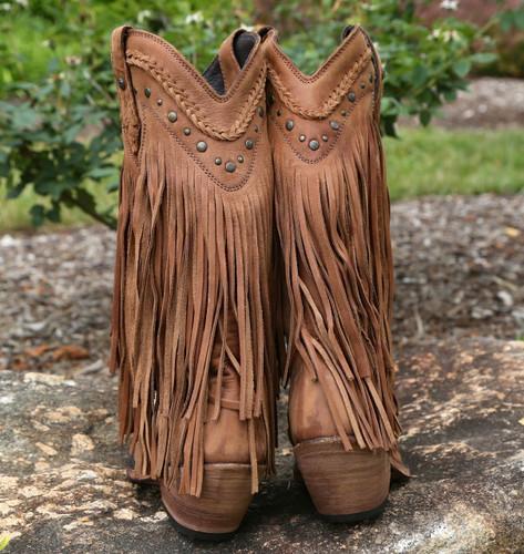 Liberty Black Vegas Fringe Boots Faggio LB71124 Heel