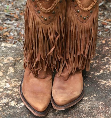 Liberty Black Vegas Fringe Boots Faggio LB71124 Toe