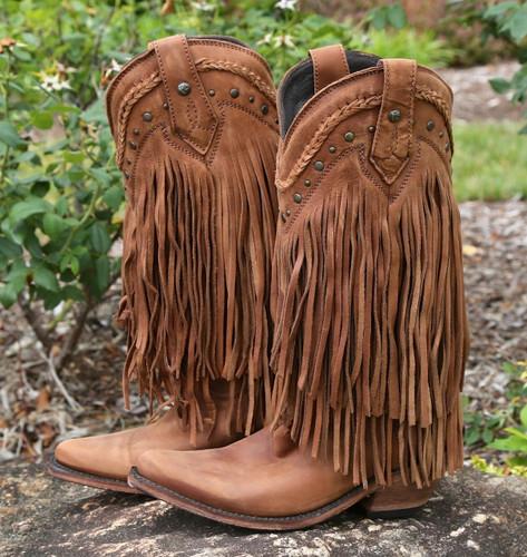 Liberty Black Vegas Fringe Boots Faggio LB71124 Picture