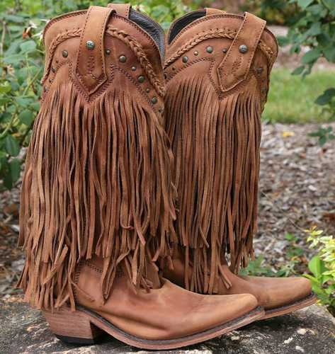 Liberty Black Vegas Fringe Boots Faggio LB71124 Image