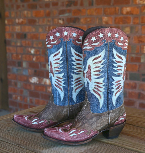 Lane for Double D Ranch Star Spangled Rodeo Boots DD9034A Picture