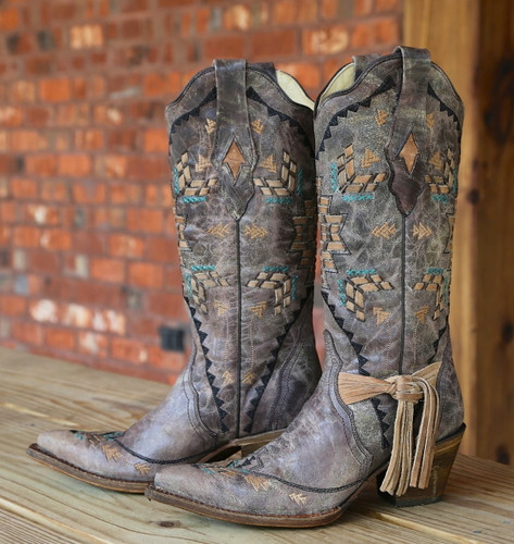 Corral Cango Tobacco Laser Woven Boots A2992 Picture