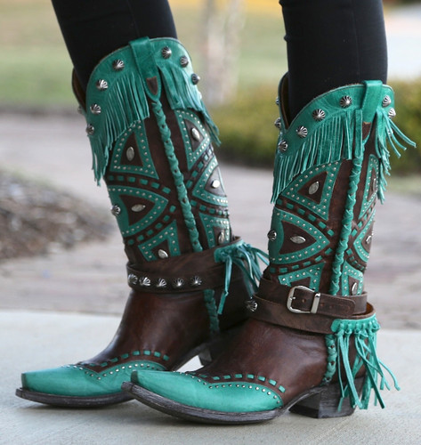 Old Gringo Buho Brass Turquoise Boots L2249-2 Image