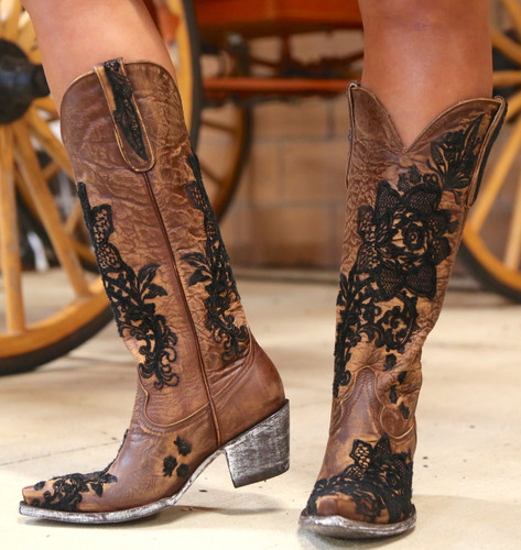"Old Gringo Nicolette 15"" Brass Boots L2310-2 Image"