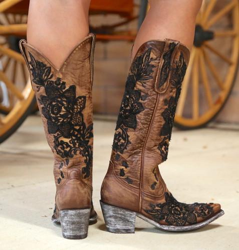 "Old Gringo Nicolette 15"" Brass Boots L2310-2 Heel"