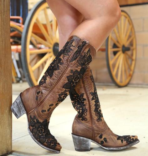 "Old Gringo Nicolette 15"" Brass Boots L2310-2 Side"