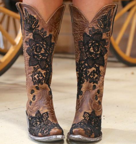 "Old Gringo Nicolette 15"" Brass Boots L2310-2 Photo"