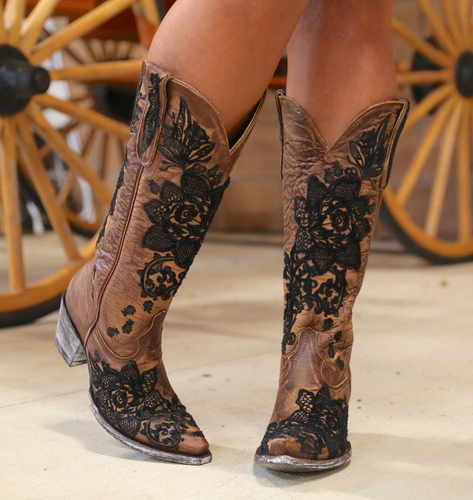 "Old Gringo Nicolette 15"" Brass Boots L2310-2 Toe"