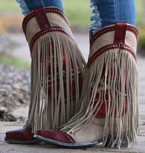 Old Gringo Crudge Bone Red Boots L2257-1 Image
