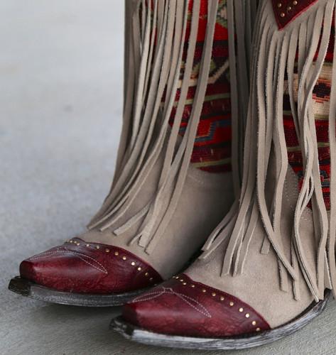 Old Gringo Crudge Bone Red Boots L2257-1 Toe