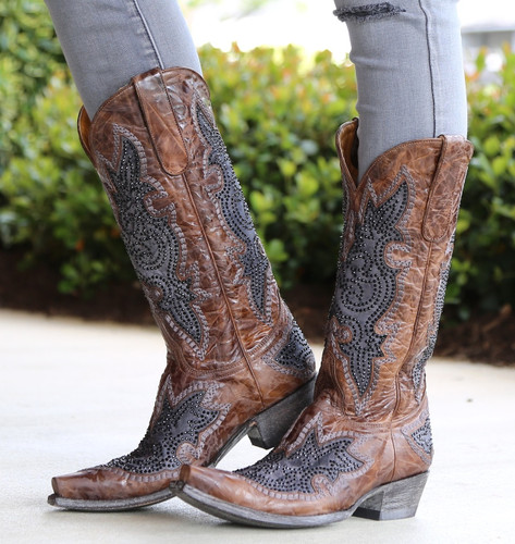 Old Gringo Diego Inlay Swarovski Oryx Boots L2181-3 Picture