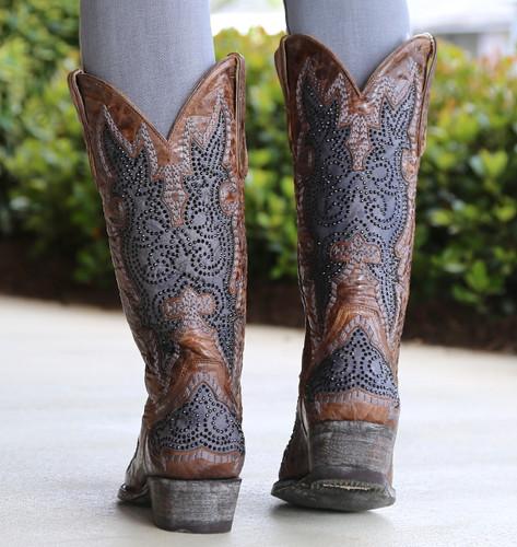 Old Gringo Diego Inlay Swarovski Oryx Boots L2181-3 Heel