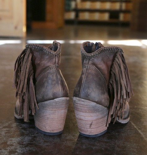 Liberty Black Vegas Faggio Acabado Tambor Boots LB712320 Heel