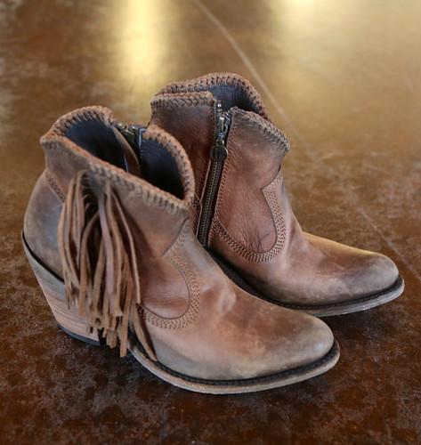 Liberty Black Vegas Faggio Acabado Tambor Boots LB712320 Toe