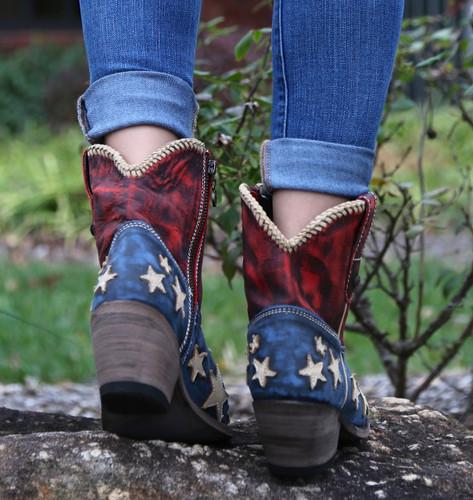 Liberty Black Vintage Azul Americana Boots LB712922 Heel