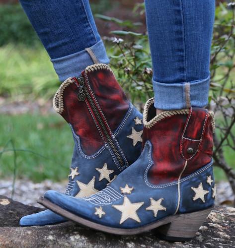 Liberty Black Vintage Azul Americana Boots LB712922 Picture