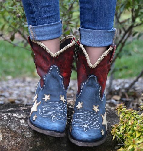 Liberty Black Vintage Azul Americana Boots LB712922 Toe