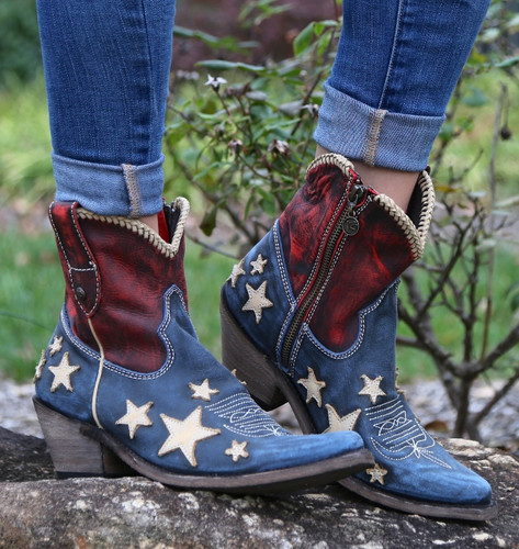 Liberty Black Vintage Azul Americana Boots LB712922 Image