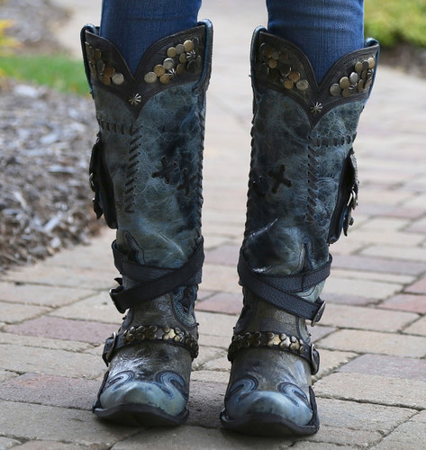 Lane for Double D Ranch Frontier Trapper Black And Navy DD9004B Toe